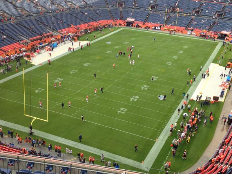 Seating view for Sports Authority Field at Mile High Section 519 Row 13 Seat 5