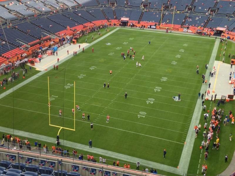Seating view for Sports Authority Field at Mile High Section 520 Row 14 Seat 1