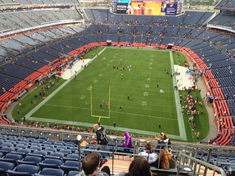 Seating view for Sports Authority Field at Mile High Section 521 Row 12 Seat 13