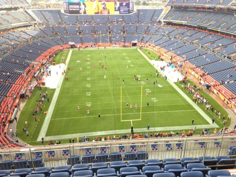 Seating view for Sports Authority Field at Mile High Section 523 Row 9 Seat 16