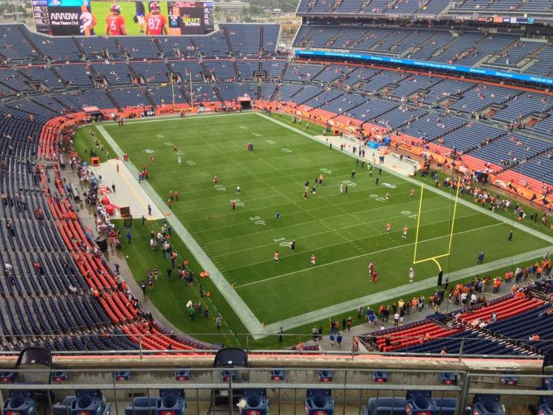 Seating view for Sports Authority Field at Mile High Section 526 Row 7 Seat 7