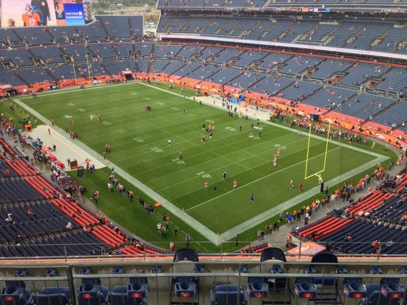 Seating view for Sports Authority Field at Mile High Section 527 Row 11 Seat 11