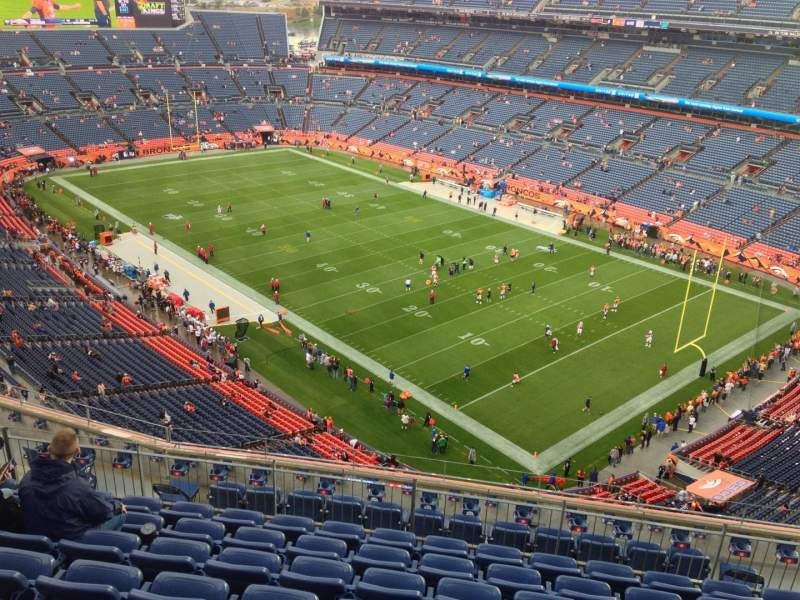 Seating view for Sports Authority Field at Mile High Section 528 Row 16 Seat 10