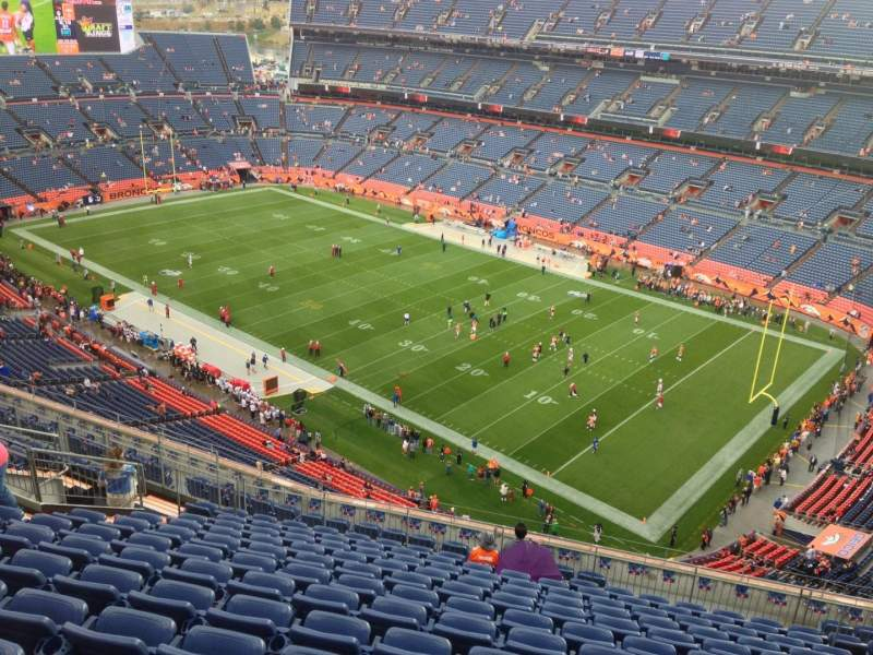 Seating view for Sports Authority Field at Mile High Section 529 Row 15 Seat 2