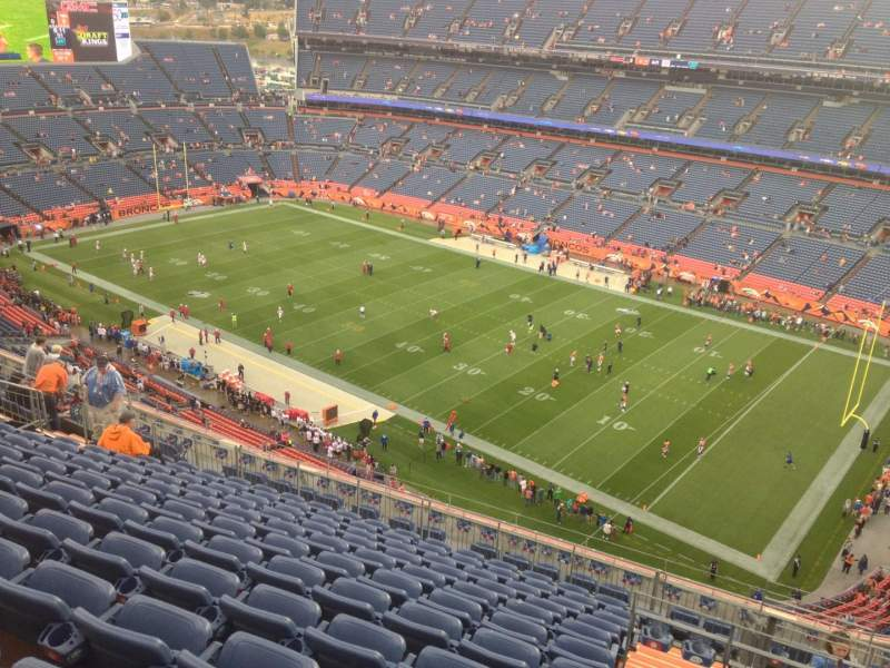 Seating view for Sports Authority Field at Mile High Section 530 Row 19 Seat 5
