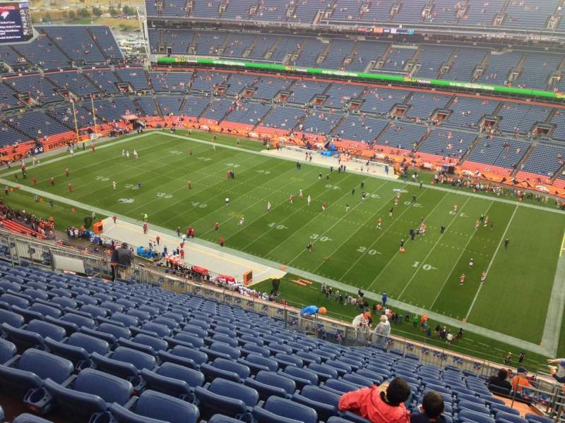Seating view for Sports Authority Field at Mile High Section 531 Row 18 Seat 14