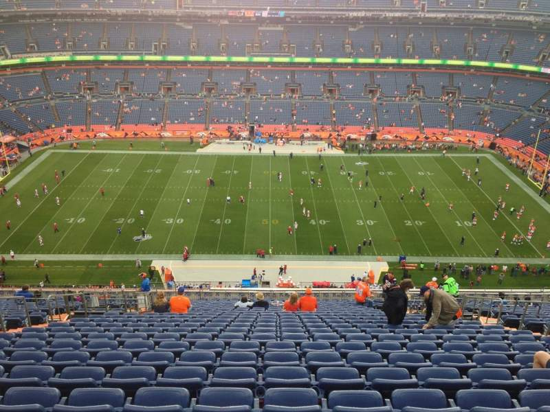 Seating view for Sports Authority Field at Mile High Section 525 Row 27 Seat 6