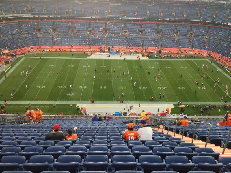 Seating view for Sports Authority Field at Mile High Section 536 Row 26 Seat 9