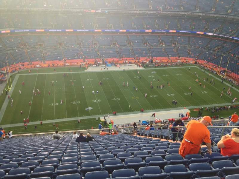 Seating view for Sports Authority Field at Mile High Section 538 Row 27 Seat 25