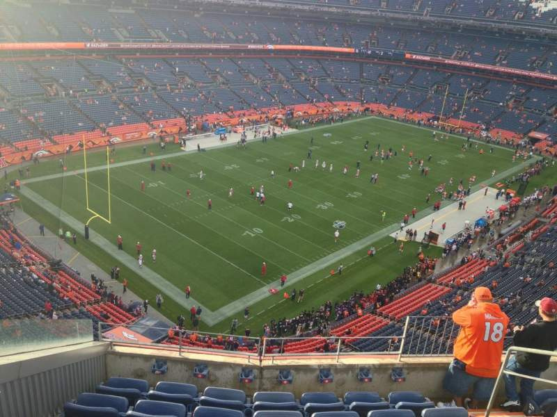 Seating view for Sports Authority Field at Mile High Section 542 Row 7 Seat 4