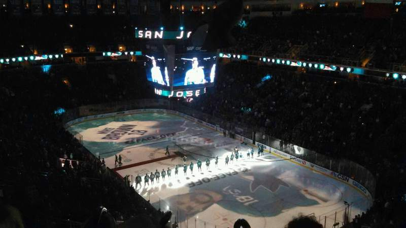 Seating view for SAP Center at San Jose Section 225 Row 15 Seat 3