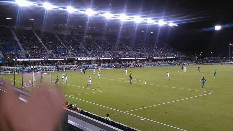 Seating view for Avaya Stadium Section 121 Row 1 Seat 5