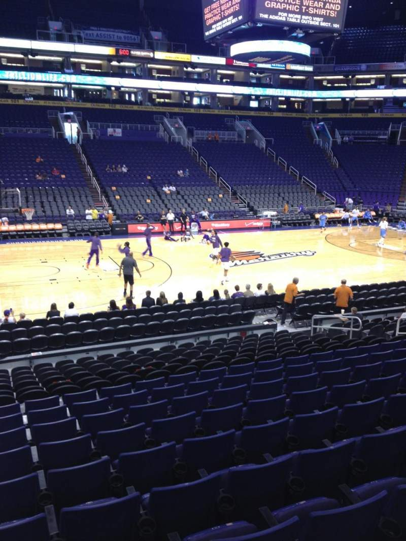 Seating view for Talking Stick Resort Arena Section 115 Row 16 Seat 16