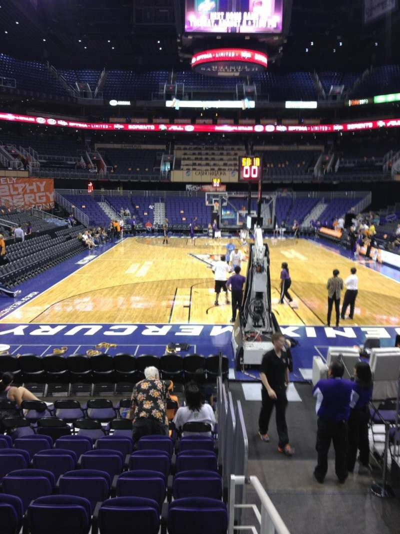 Seating view for Talking Stick Resort Arena Section 108 Row 8 Seat 14