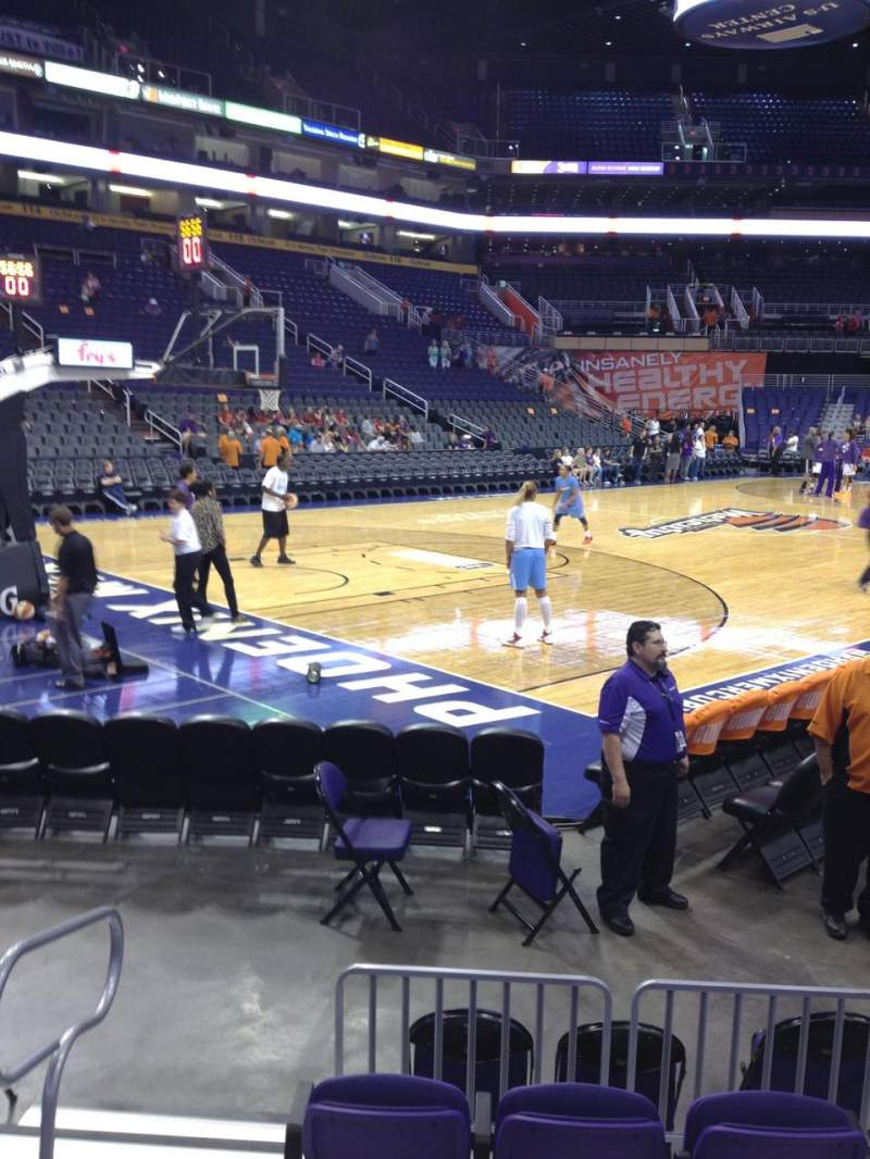 Seating view for Talking Stick Resort Arena Section 105 Row 5 Seat 15
