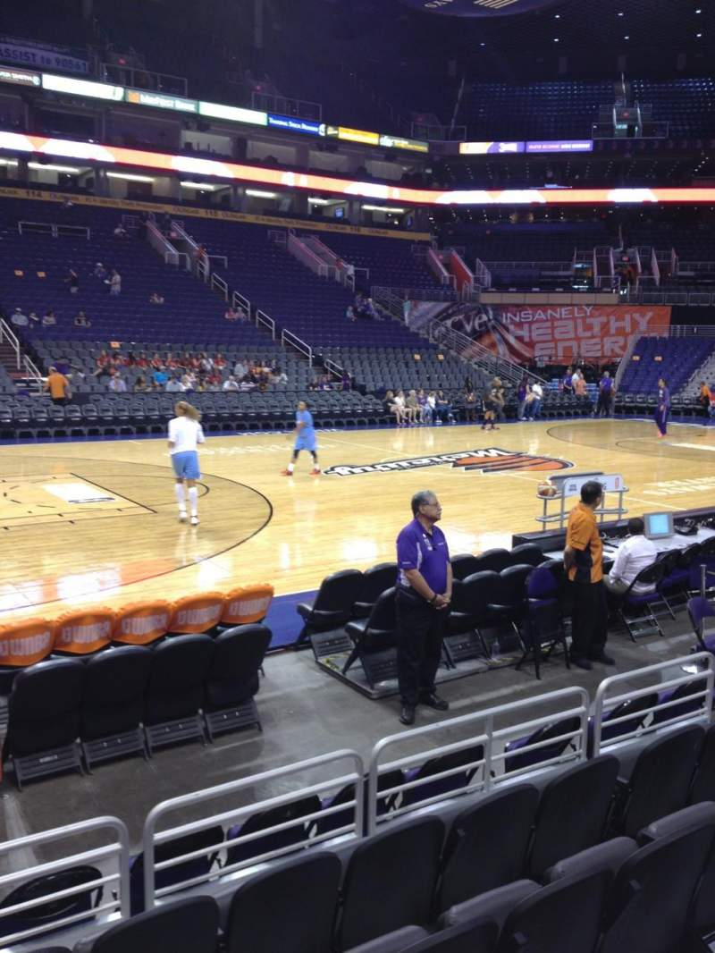 Talking Stick Resort Arena, section: 103, row: 5, seat: 16