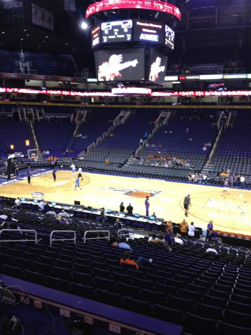 Seating view for Talking Stick Resort Arena Section 101 Row 23 Seat 4