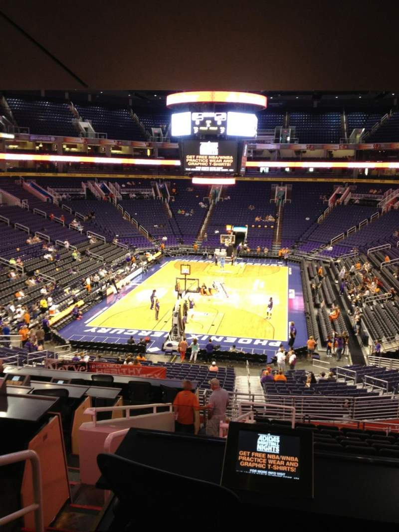 Seating view for Talking Stick Resort Arena Section 119 Row 31 Seat 16