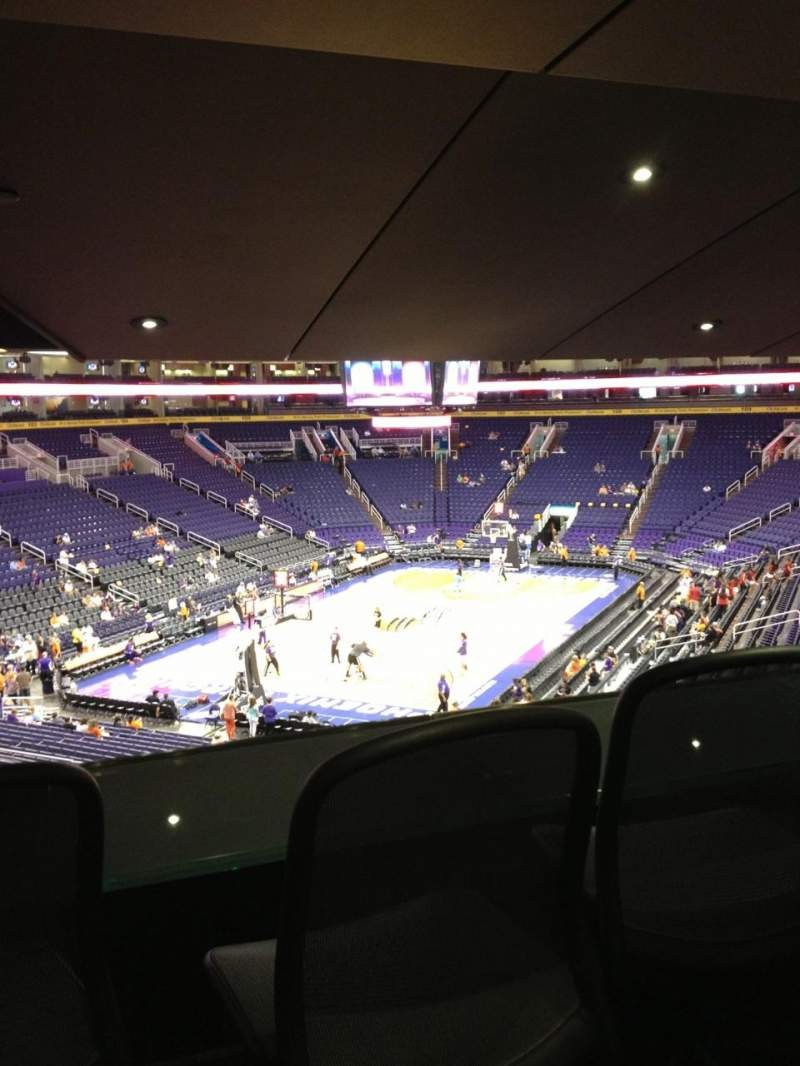 Seating view for Talking Stick Resort Arena Section 117 Row 30 Seat 22