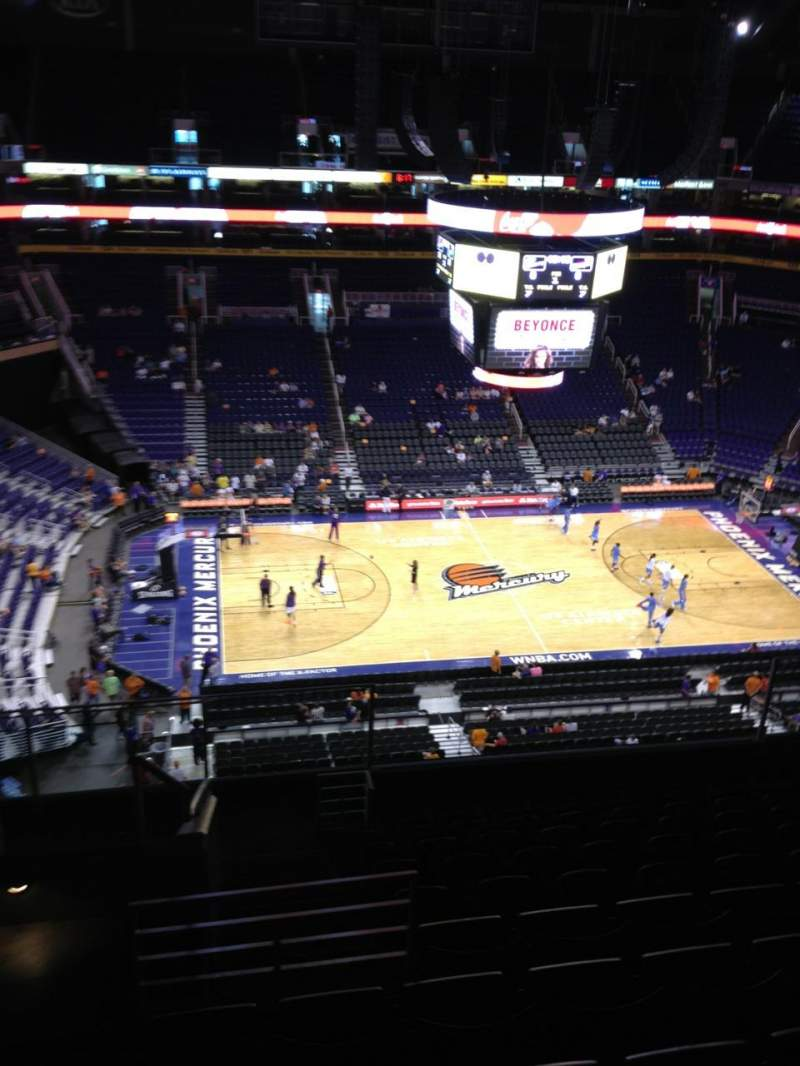 Seating view for Talking Stick Resort Arena Section 220 Row 11 Seat 17