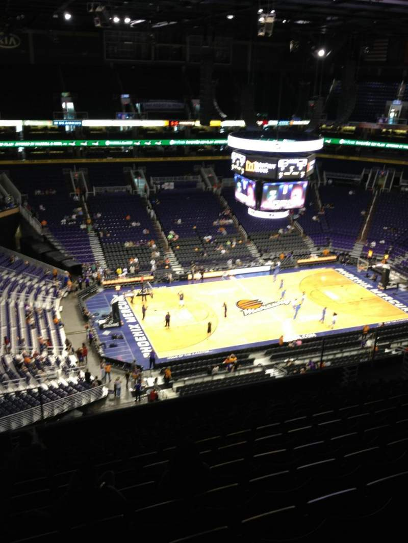 Seating view for Talking Stick Resort Arena Section 221 Row 13 Seat 21
