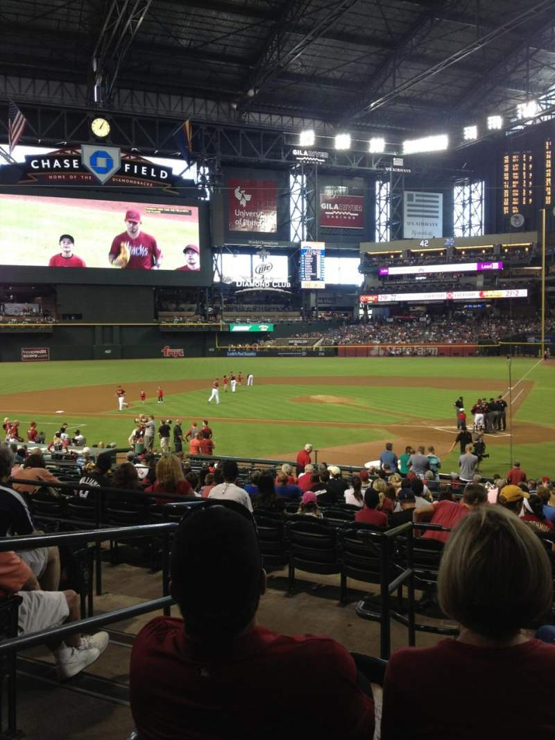 Seating view for Chase field Section 125 Row 26 Seat 12