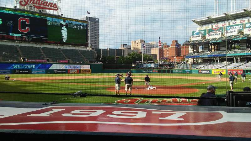 Seating view for Progressive Field Section 154 Row G Seat 1