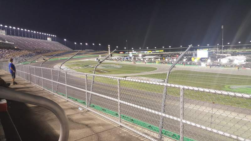 Seating view for Kentucky Speedway Section GS3A Row 1 Seat 16