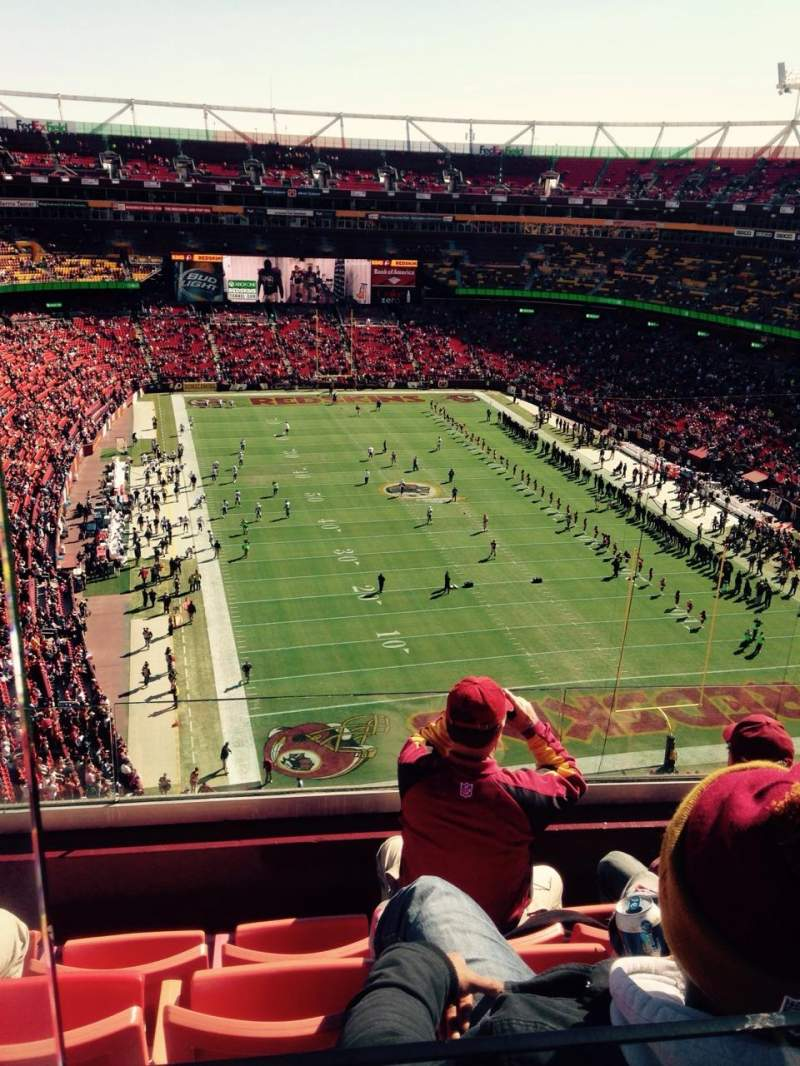 Seating view for FedEx Field Section 416 Row 4 Seat 19