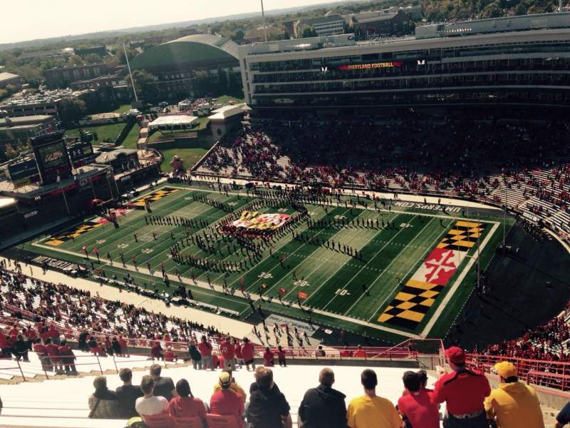 Seating view for Maryland Stadium Section 312 Row KK Seat 27