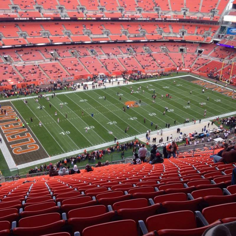 Seating view for FirstEnergy Stadium Section 504 Row 30 Seat 9
