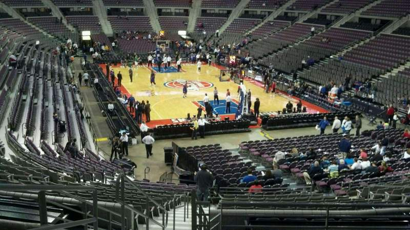 Seating view for The Palace of Auburn Hills Section 121 Row Q Seat 019