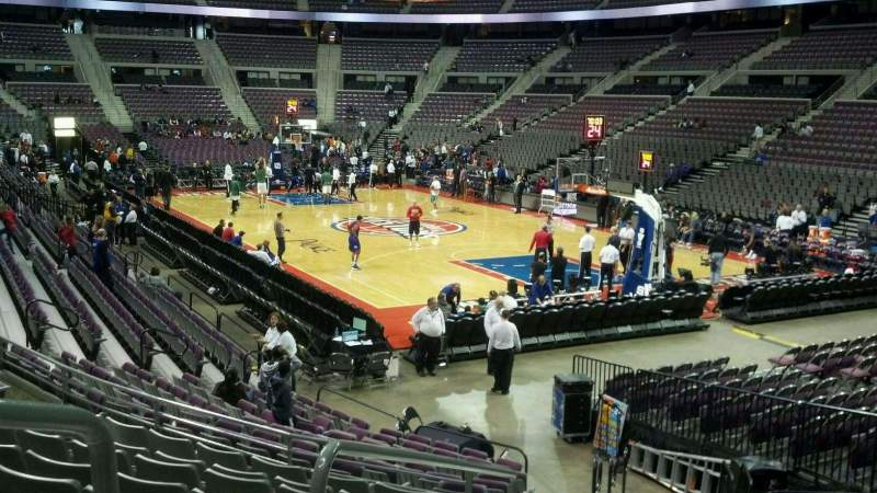 Seating view for The Palace of Auburn Hills Section 122 Row J Seat 013
