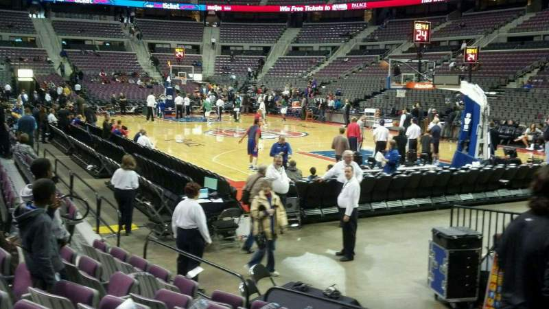 Seating view for The Palace of Auburn Hills Section 123 Row a Seat 001