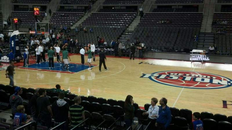Seating view for The Palace of Auburn Hills Section 126 Row b Seat 018