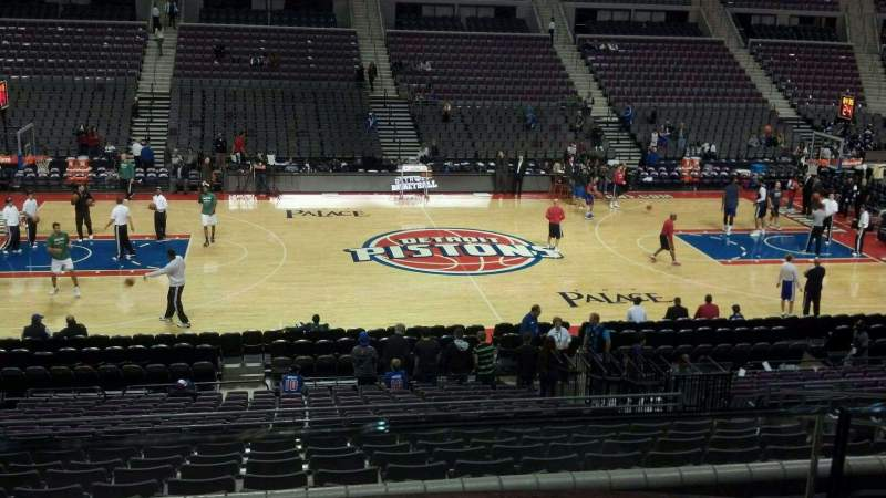 Seating view for The Palace of Auburn Hills Section 101 Row k Seat 010