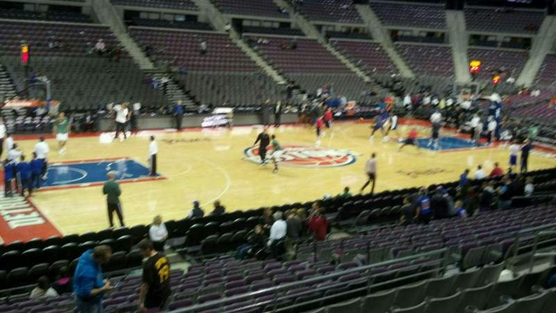 Seating view for The Palace of Auburn Hills Section 102 Row j Seat 015