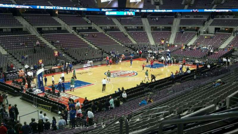 Seating view for The Palace of Auburn Hills Section 104 Row n Seat 003