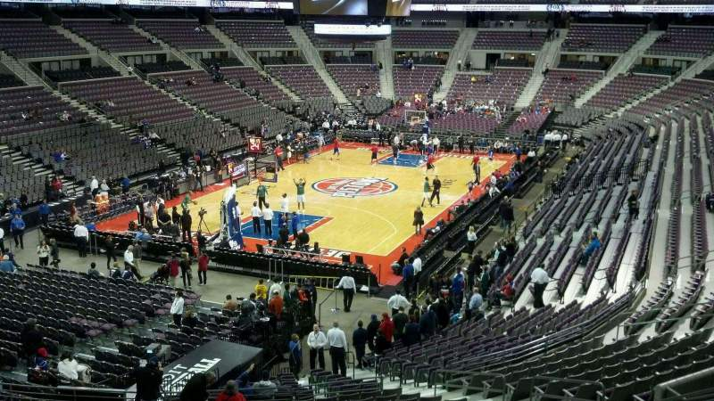 Seating view for The Palace of Auburn Hills Section 105 Row r Seat 014