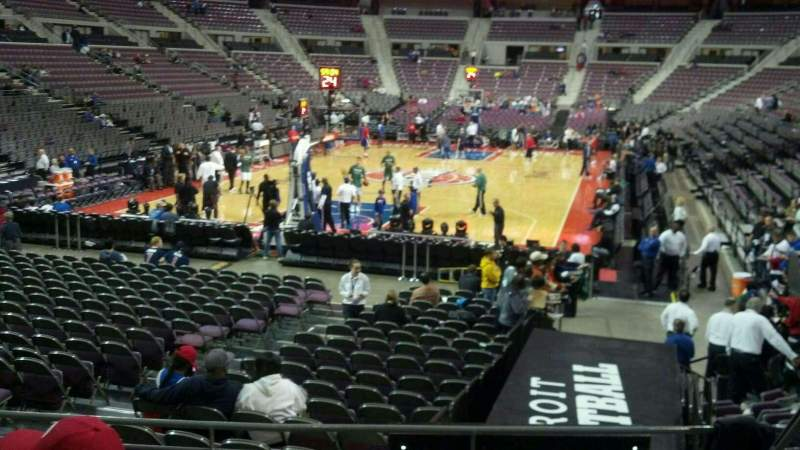 Seating view for The Palace of Auburn Hills Section 106 Row h Seat 005