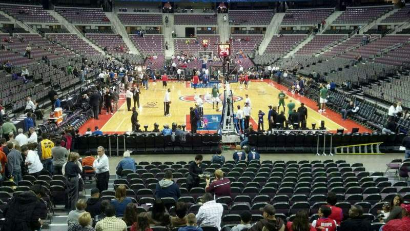 Seating view for The Palace of Auburn Hills Section 107 Row g Seat 012