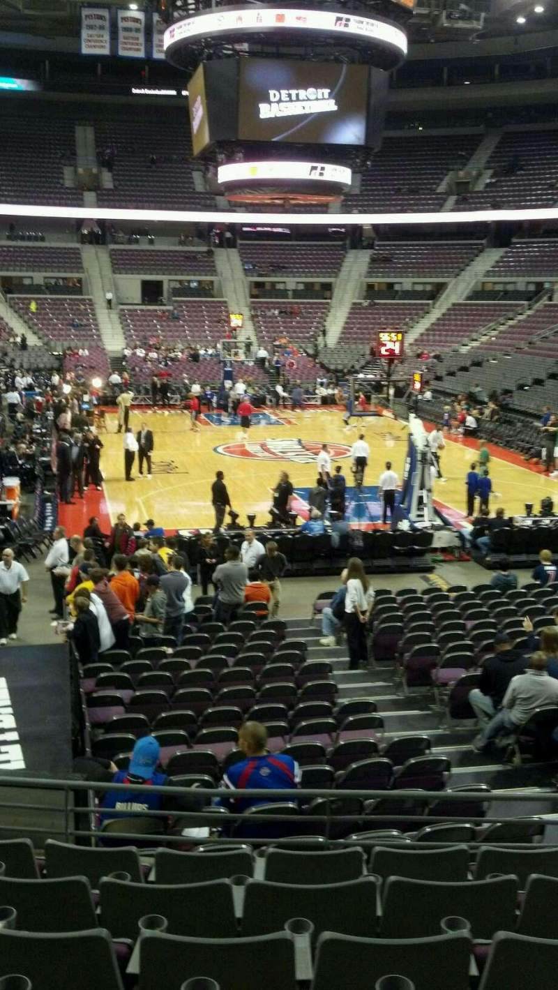 Seating view for The Palace of Auburn Hills Section 108 Row j Seat 006