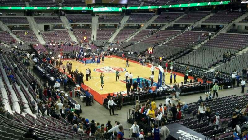 Seating view for The Palace of Auburn Hills Section 109 Row l Seat 007