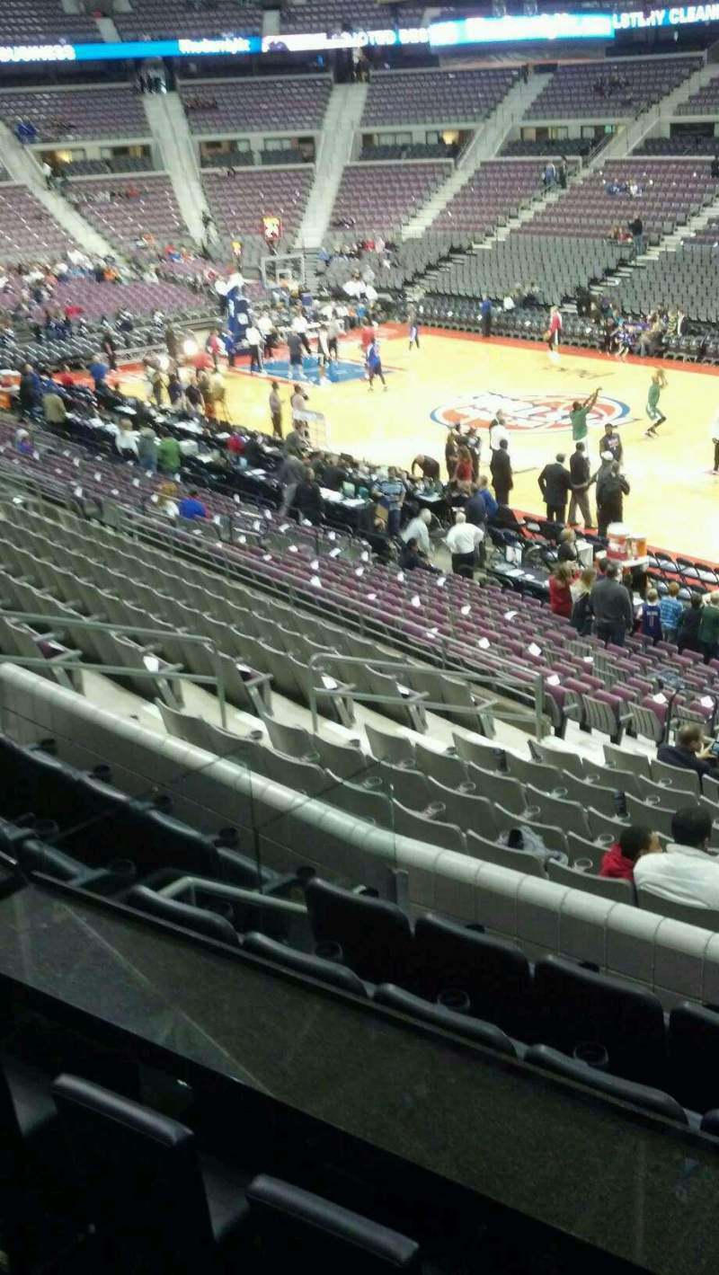 Seating view for The Palace of Auburn Hills Section 111 Row k Seat 001