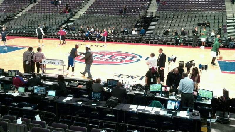 Seating view for The Palace of Auburn Hills Section 113 Row b Seat 008