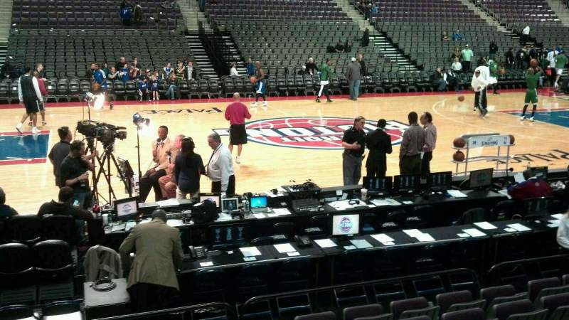 Seating view for The Palace of Auburn Hills Section 114 Row a Seat 015