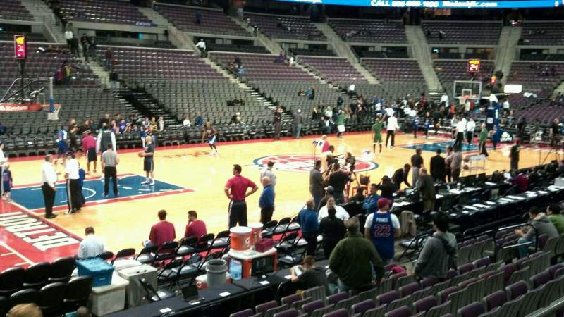 Seating view for The Palace of Auburn Hills Section 115 Row c Seat 018
