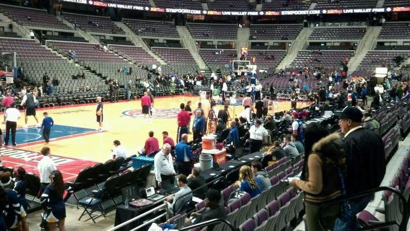 Seating view for The Palace of Auburn Hills Section 116 Row a Seat 008