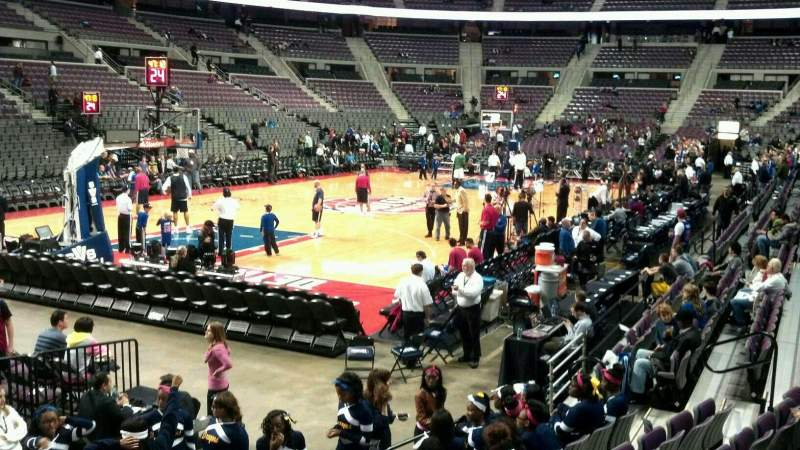 Seating view for The Palace of Auburn Hills Section 117 Row c Seat 009