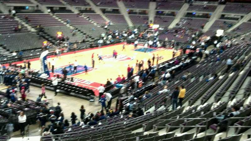 Seating view for The Palace of Auburn Hills Section 117 Row k Seat 014